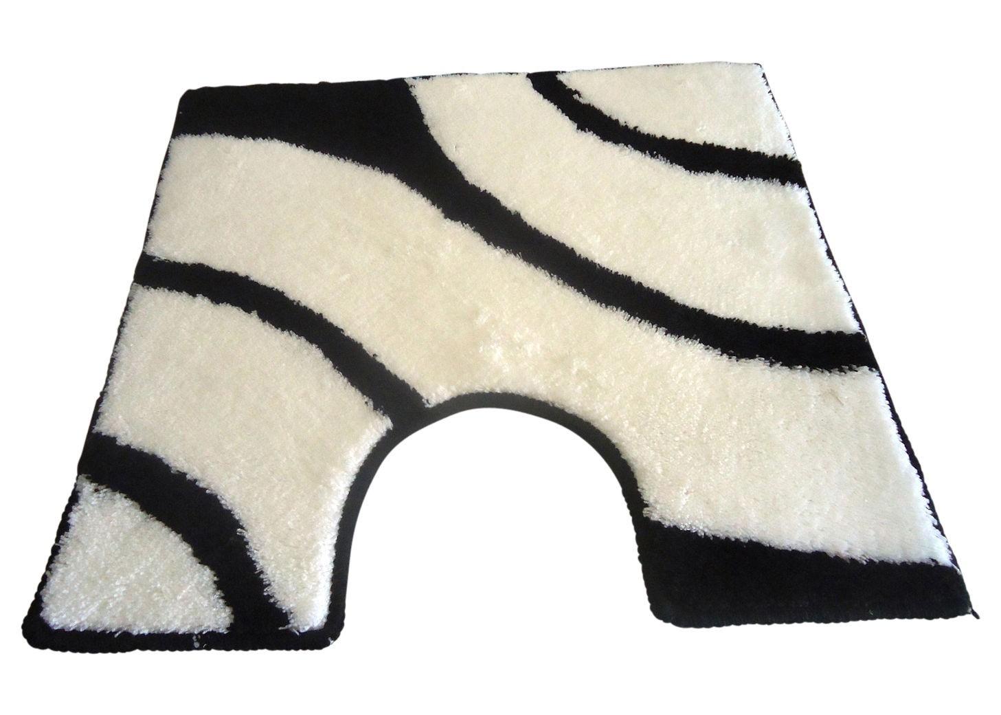 wc vorleger rondo schwarz wei 60x60cm mit ausschnitt von batex bad badteppiche wc vorleger mit. Black Bedroom Furniture Sets. Home Design Ideas